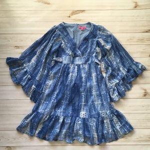 Betsey Johnson Blue Lace Bambi Dress